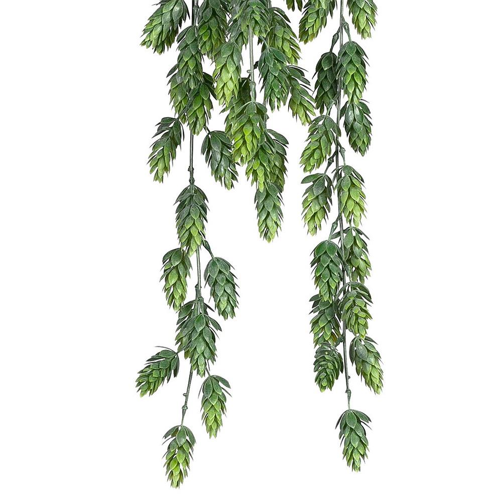 Hopfen Hänger mit Dolden grün x6, 75cm Länge, Kunststoff Hängepflanze