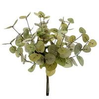 "Eukalyptus Busch x4 Bund = 12 Stiele, grau-grün L43cm/ 20/23cm ""Seide"""