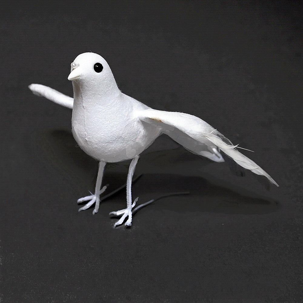 2 Tauben fliegend, ganz weiß, Hochzeit, 17cm mittel / Nice Price !!!