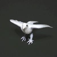 6 Tauben fliegend, ganz weiß, 8cm mini, Hochzeit / Nice Price !!!