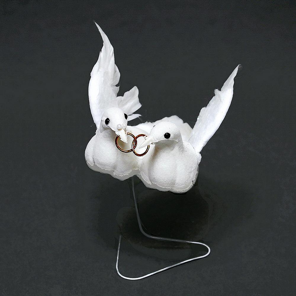 Taubenpaar mit Ringen, 13cm mittel, Hochzeit / Nice Price !!!