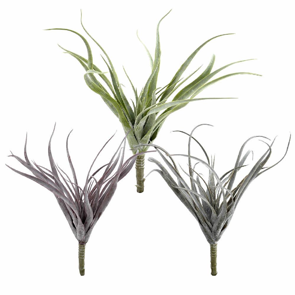 Tillandsia Pflanze, Kunststoff Busch outdoor L25cm komplett !!!