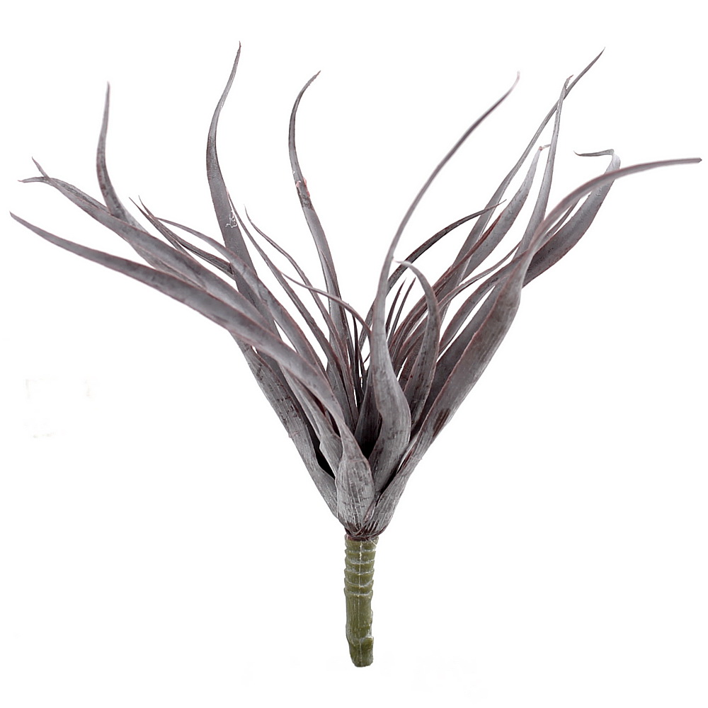 Tillandsia Pflanze, Kunststoff Busch outdoor L25cm komplett / bordeaux