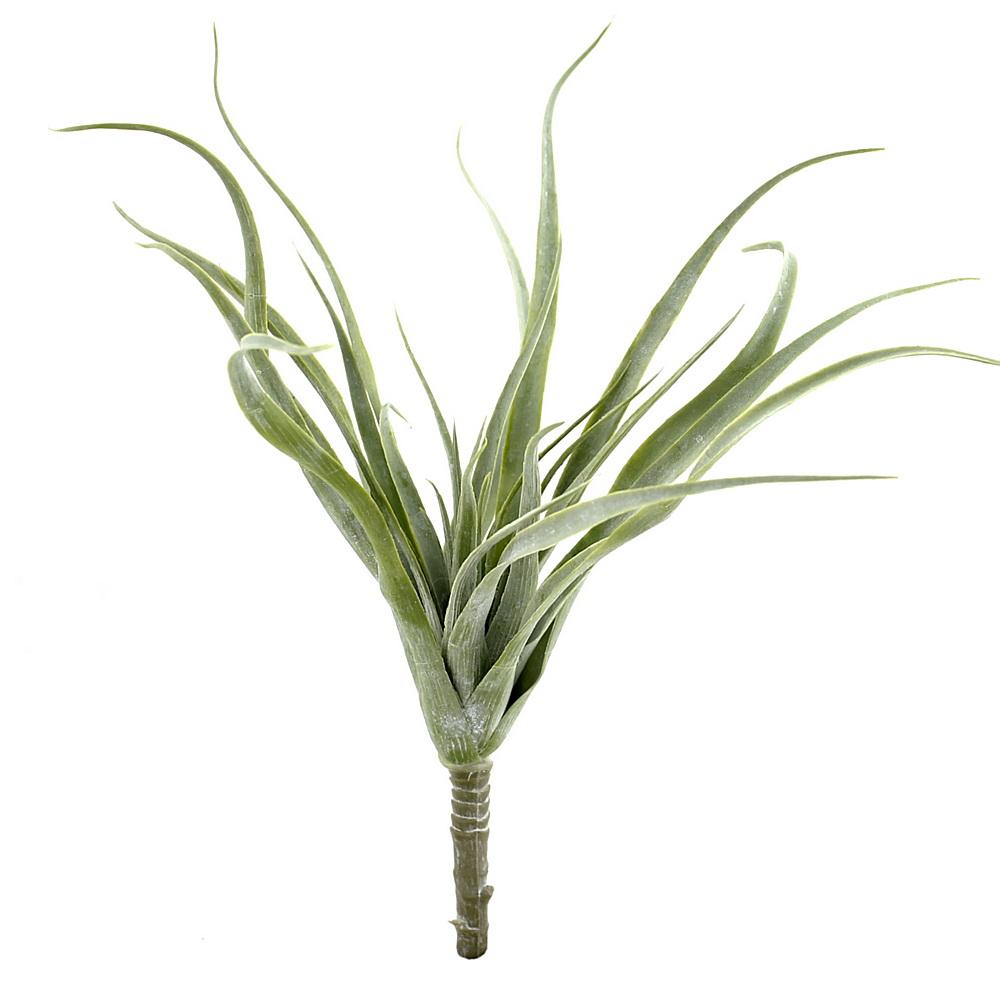Tillandsia Pflanze, Kunststoff Busch outdoor L25cm komplett / hellgrün
