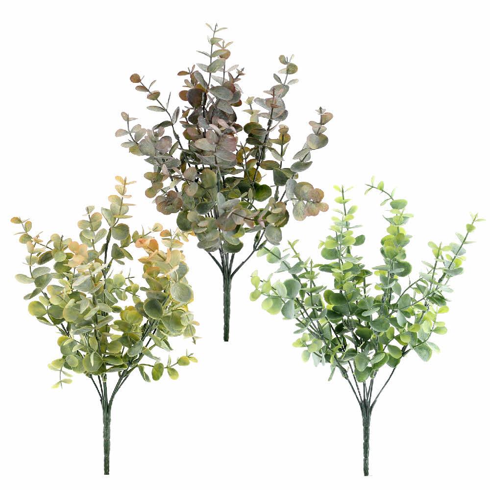 Eukalypthus Busch x7, div. Farben, 10/33cm, Kunststoff, outdoor !!!