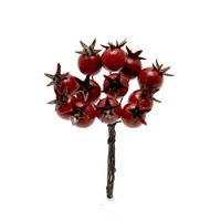 6 x Beeren Pick mit 12 Beeren, L= 10cm, rot, künstlich, Früchte !!!