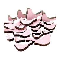 20x Holzvögel rosa in 3 Größen Länge 7/5/3cm dick 0,7cm Streuartikel !