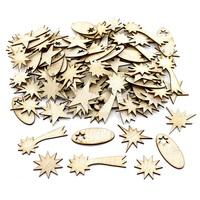 100x Holz Sterne mixed natur, Streuartikel 3cm bis 6cm d 1,5mm !!!