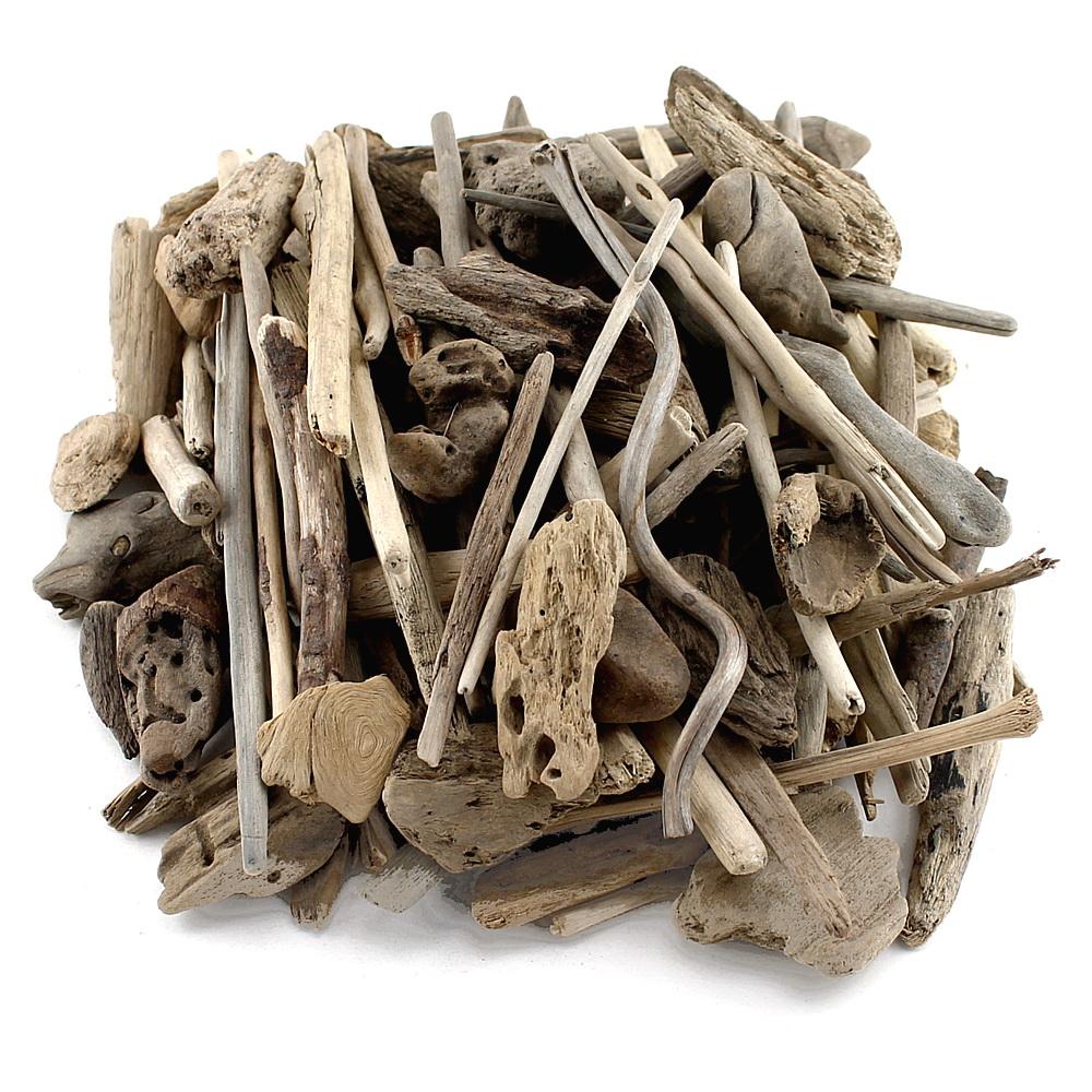 Treibholz dünn, natur, L3-15cm, 0,5kg diverse Formen, Beutel !!!
