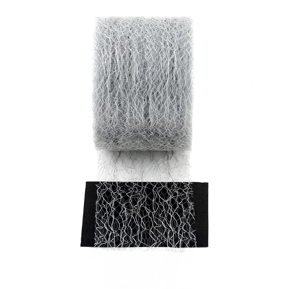 "Netzband, Tischband ""Roma"", 70mm 25 M. wetterfest /// 127 silber"