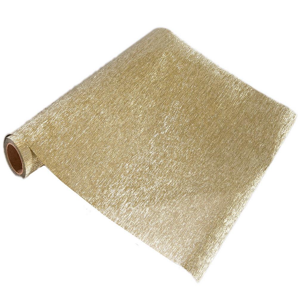 """Folie, Tischband """"Luxor"""", 25cm 5 Meter, Glitteroptik !!! 126 gold"""