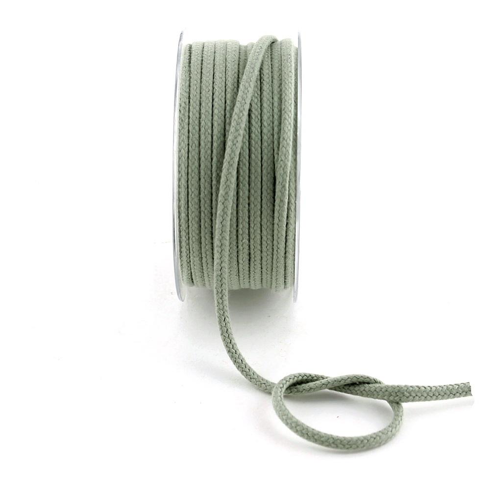 Flechtkordel Ø 4mm/ 10 Meter, 100% Baumwolle ohne Draht / 112 oliv