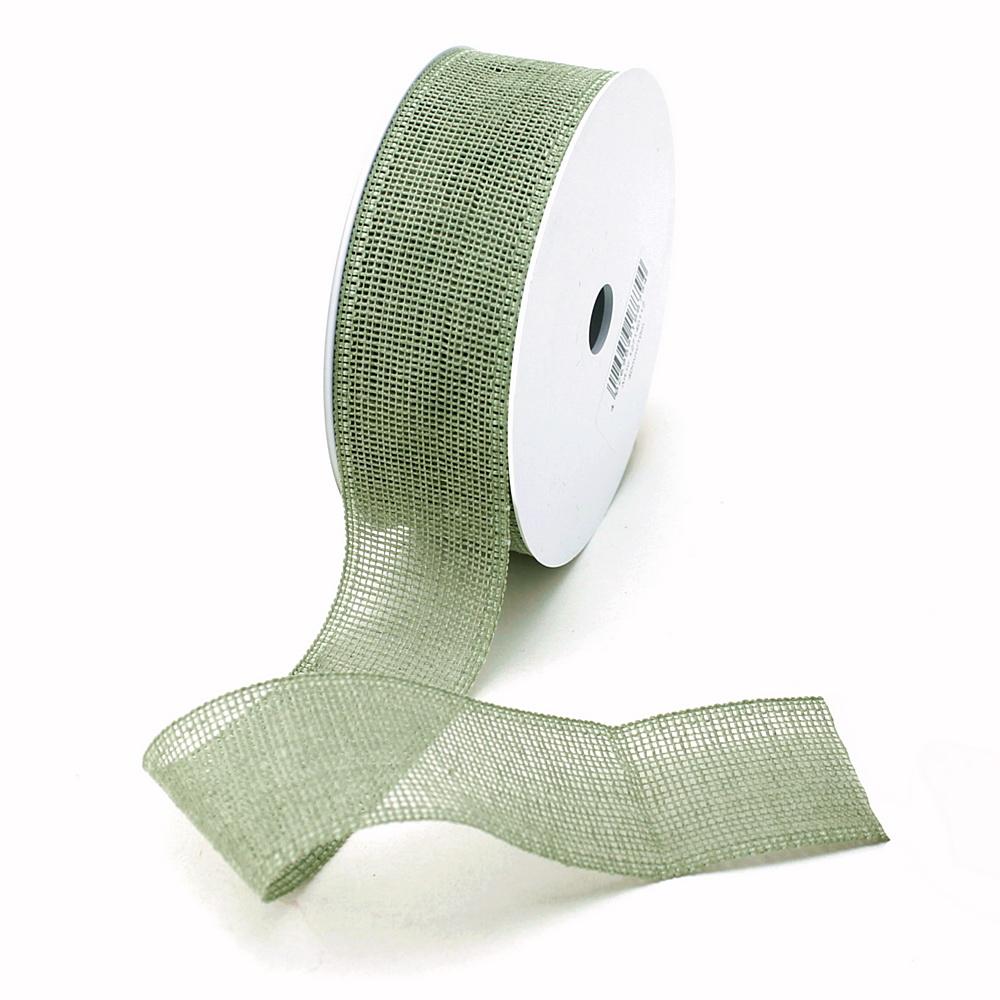 "Band ""Madrid"" 40mm/ 10 Meter ohne Draht, 70%  Baumwolle/ 112 oliv (grün)"