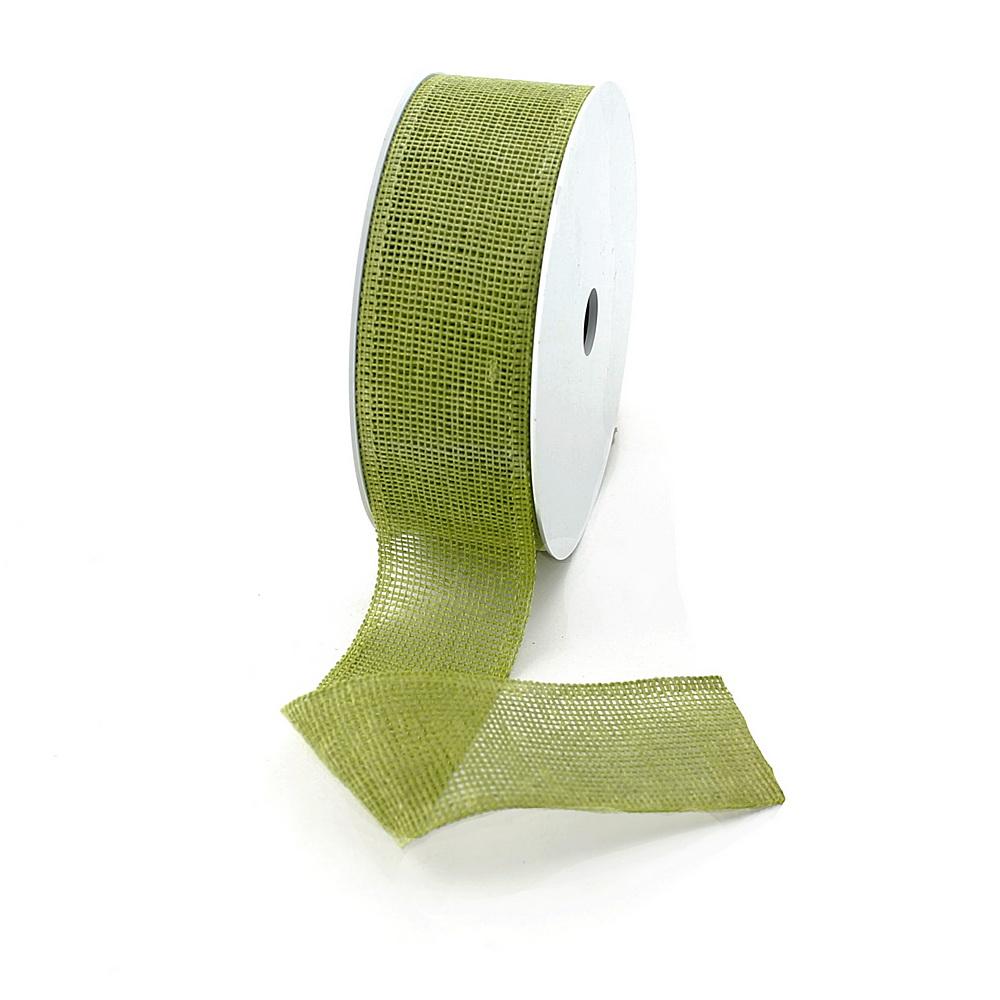"Band ""Madrid"" 40mm/ 10 Meter ohne Draht, 70% Baumwolle 211 jade (grün)"