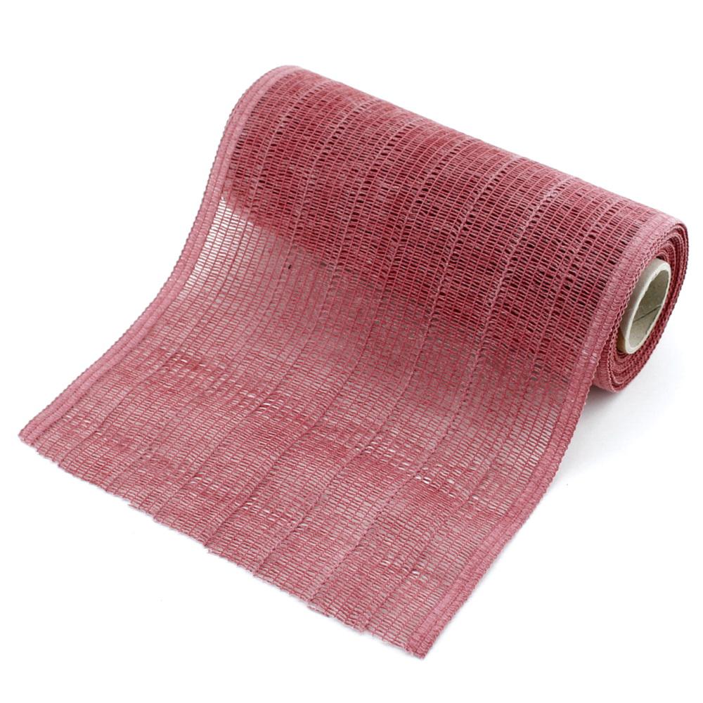 """Tischband, Tischläufer """"Madrid"""" 22cm 5 Met. 90%  Baumwolle/ 155 rubinrot"""