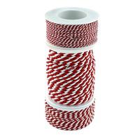 Kordel, 2-farbig gedreht, rot/weiß ohne Draht 2-4-6mm, Profispule !!!
