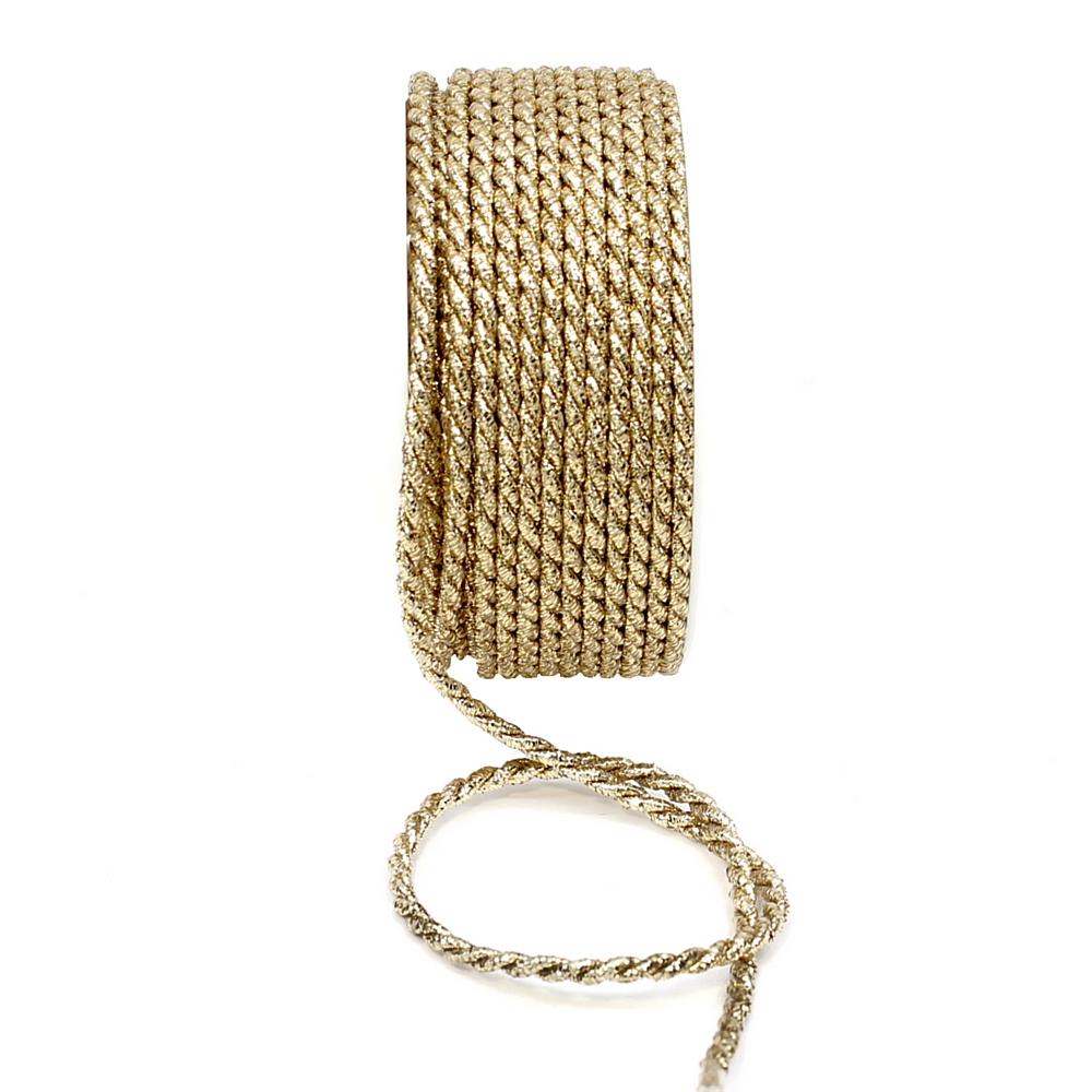 Kordel gold, Lurexkordel ohne Draht Ø 4mm/ 25 Met.