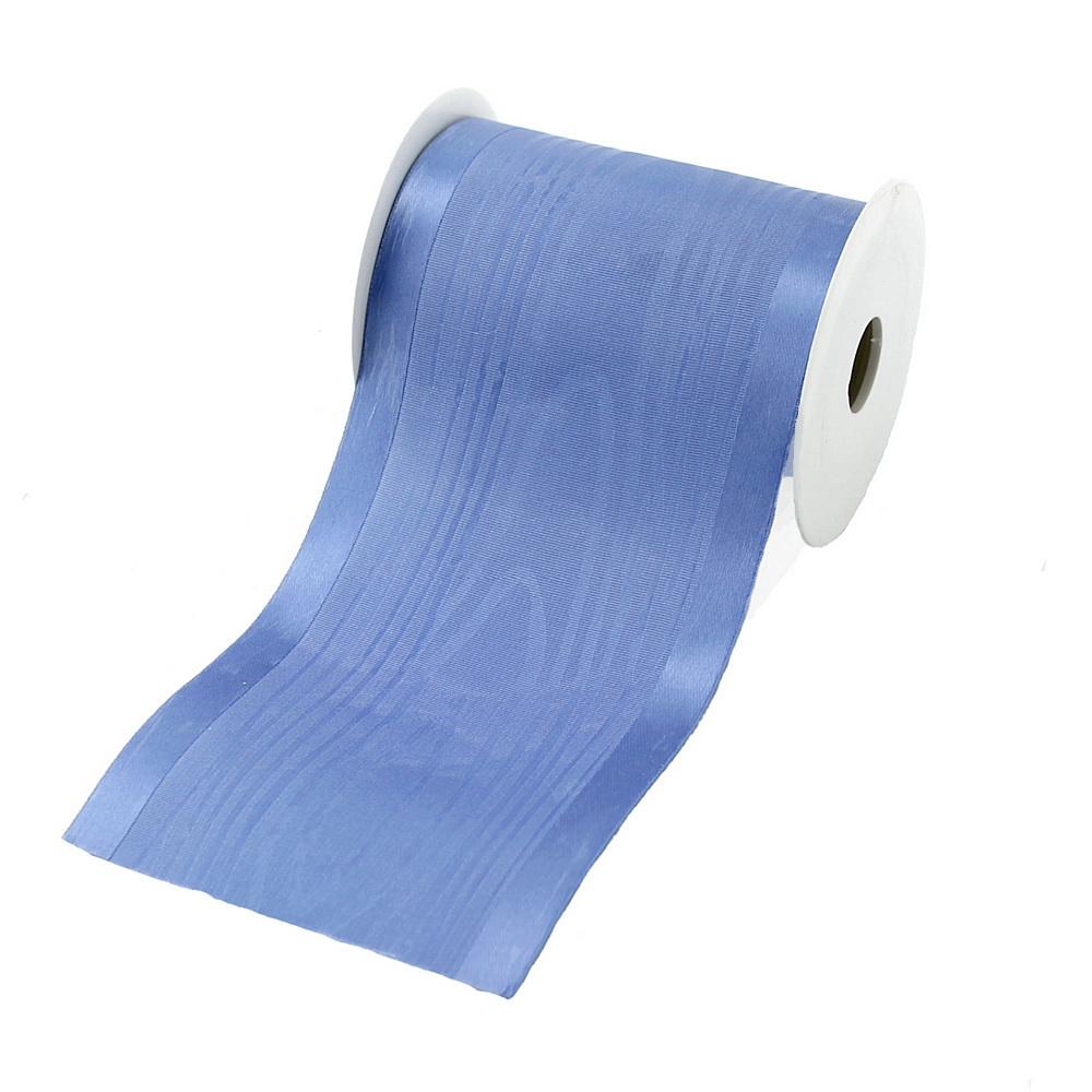 """Tischband Moire mit Satinkante """"Luxury"""", 100mm/ 3 Meter !!! (blau)"""