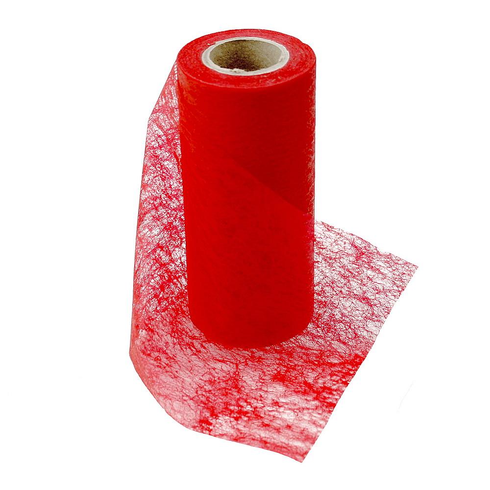 Vlies Band, Tischband 15cm-20 Meter, Tischläufer /// 123 rot