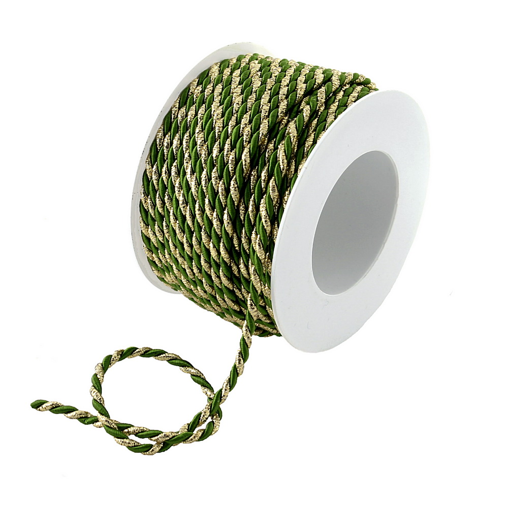 Kordel Ø 4mm/ 25 Met. 2-farbig: 112 grün/gold