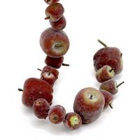 Deko Apfelgirlande Länge 90cm, 33 Äpfel d.-rot/gelb, künstlich, Früchte !!!