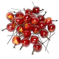 24 x Deko Äpfel mini 2cm, d.-rot/gelb, künstlich, Früchte !!!