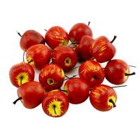 12 x Deko Äpfel klein 3,5cm, rot/gelb glänzend, künstlich, Früchte !!!