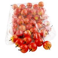 48 x Deko Äpfel klein 3,5cm, gelb/rot/orange matt, künstlich, SPARPACK
