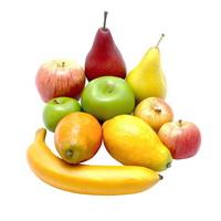 """Früchte Mix 10 Stück Sortiment """"real touch"""", sehr REALISTISCH, Deko Obst"""