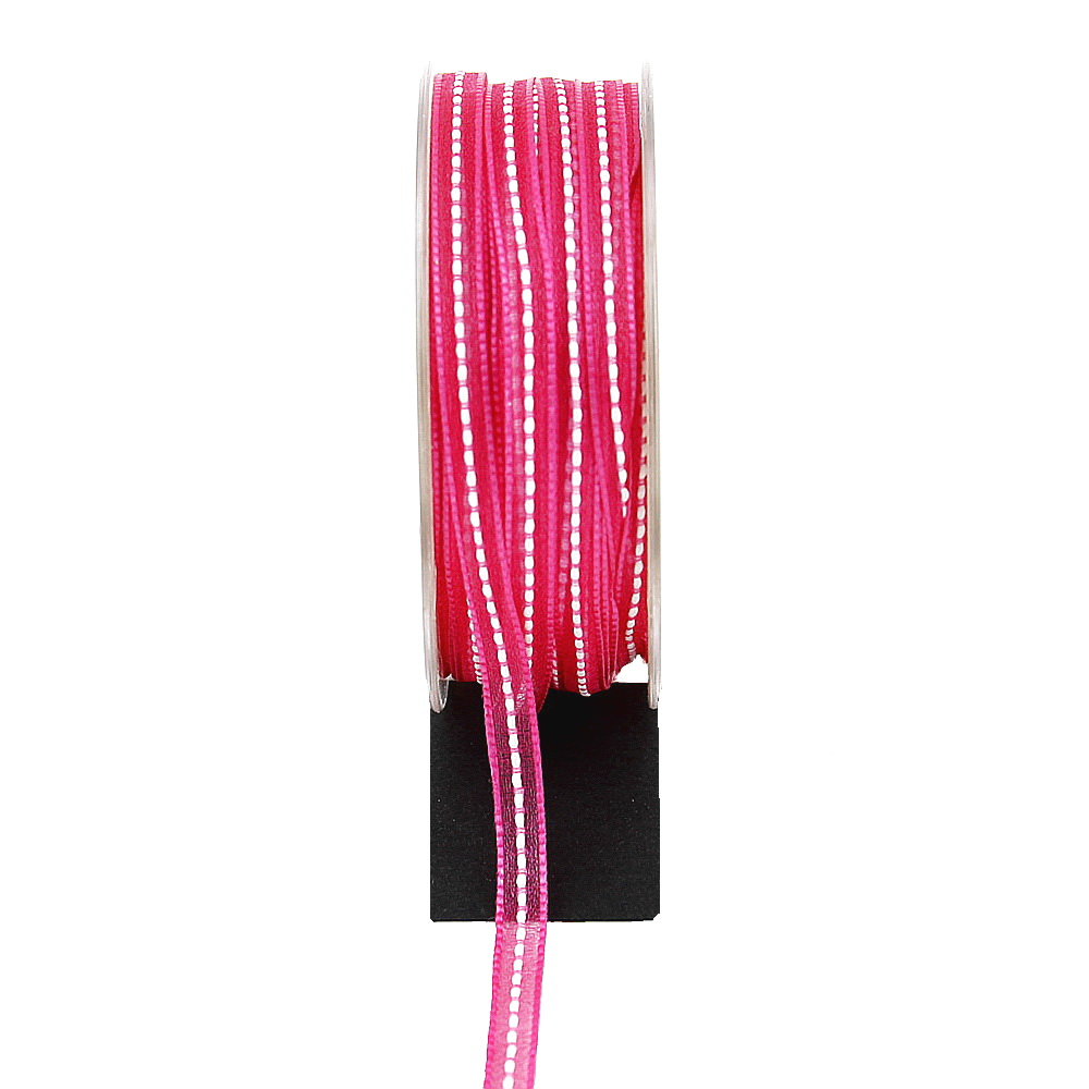 Band leicht transparent, 5mm - 20 Meter, zartes Dekoband !!! pink